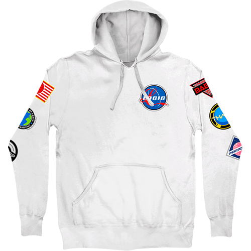8e0f7f6ef227 NASA Space Patches Hoodie